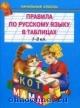 Правила по русскому языку в таблицах 1-4 кл